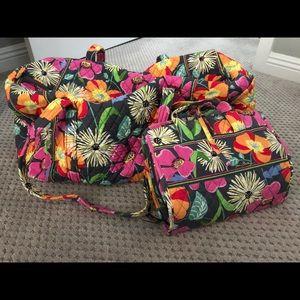 Vera Bradley Travel Bag Set